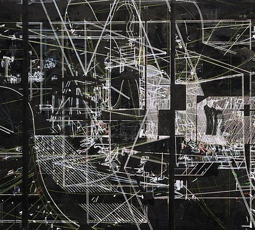 Composite Study | 110 x 230 cm | Acryl/Tusche auf Leinwand | 2004