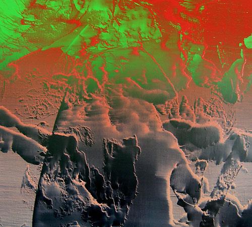 #0921| Acryl, Alkyd und Ölfarbe auf Leinwand | 50 x 45 cm | 2009
