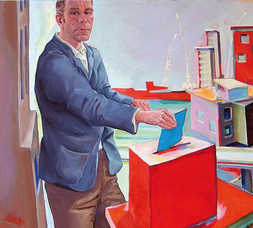 Souverän | Acryl auf Nessel | 118 x 160 cm | 2010