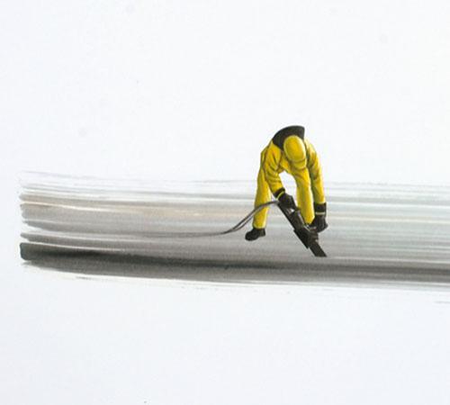 Ohne Titel 25 | Öl auf Papier | 44 x 63 cm | 2009