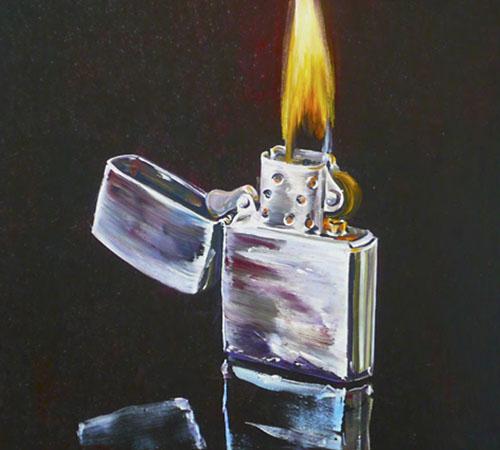 Feuerzeug | Ölfarbe auf Leinwand | 240 x 160 cm | 2010