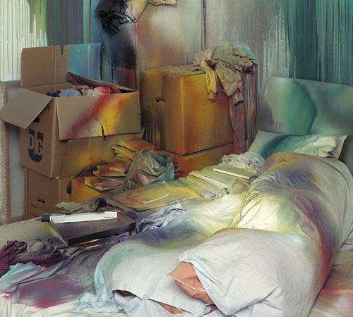 Das Bett,  2004 | Foto: Nic Tenwiggenhorn